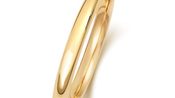 9ct 2mm Ladies Court Wedding Ring