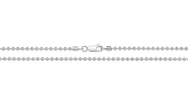 "Silver 18""Plug Chain"