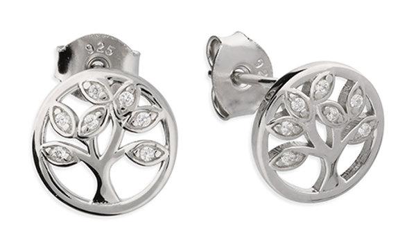 Silver Tree Life Earrings