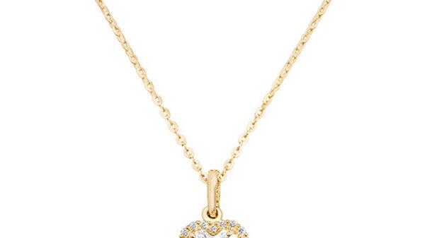 9ct cz Heart Necklace