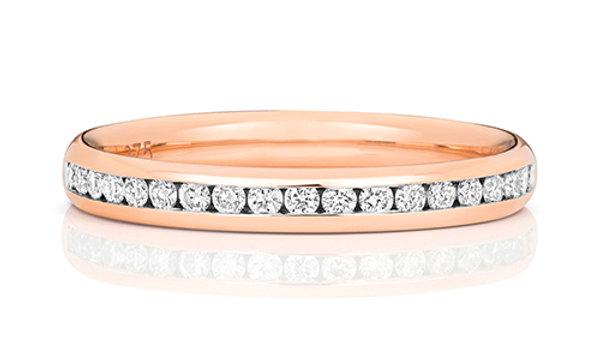 9ct Diamond Rose Gold 24pt Ring