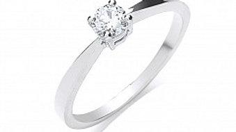 PLATINUM 25PT DIAMOND RING