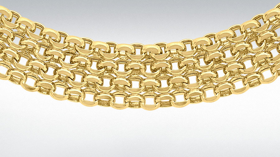 """9ct Gold 17"""" Necklace"""