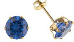 9ct Cz Tanzanite 6mm Earrings
