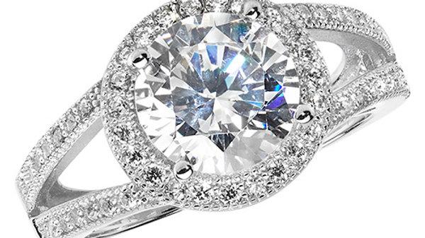 Silver Cz Fancy Ring