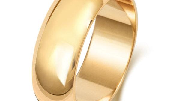 9ct 7mm Gents Wedding Ring