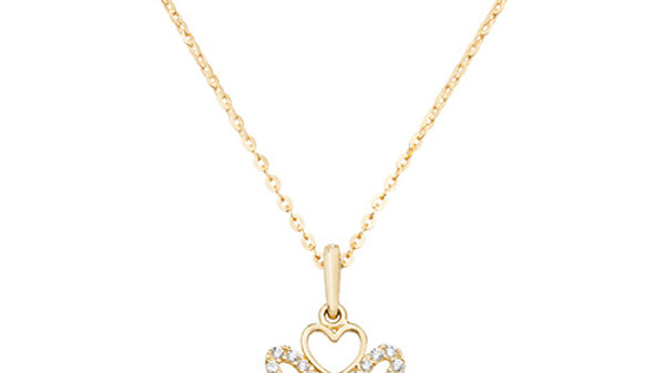 9ct cz Heart Necklace