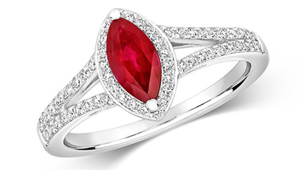 9ct Ruby/Diamond Ring