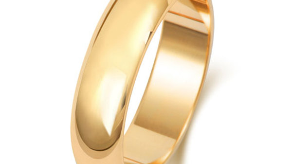 9ct 5mm Gents Wedding Ring