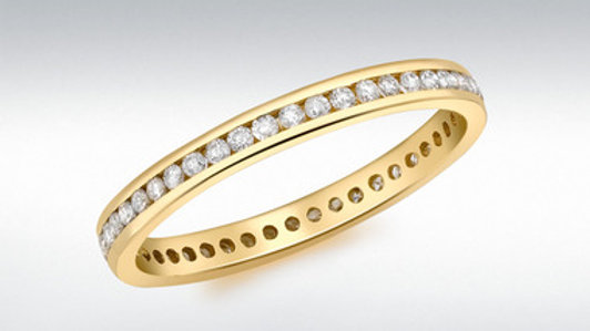 18ct Diamond full Eternity .50ct Ring