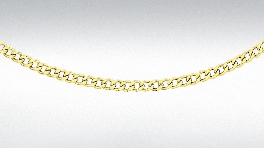 """9ct 18"""" Curb Chain"""