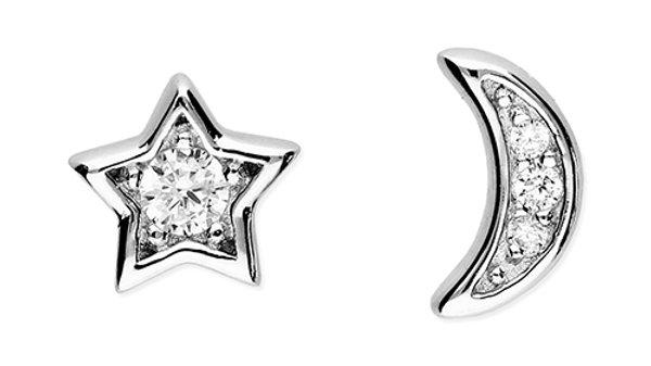Silver Cz  mismatch Earrings