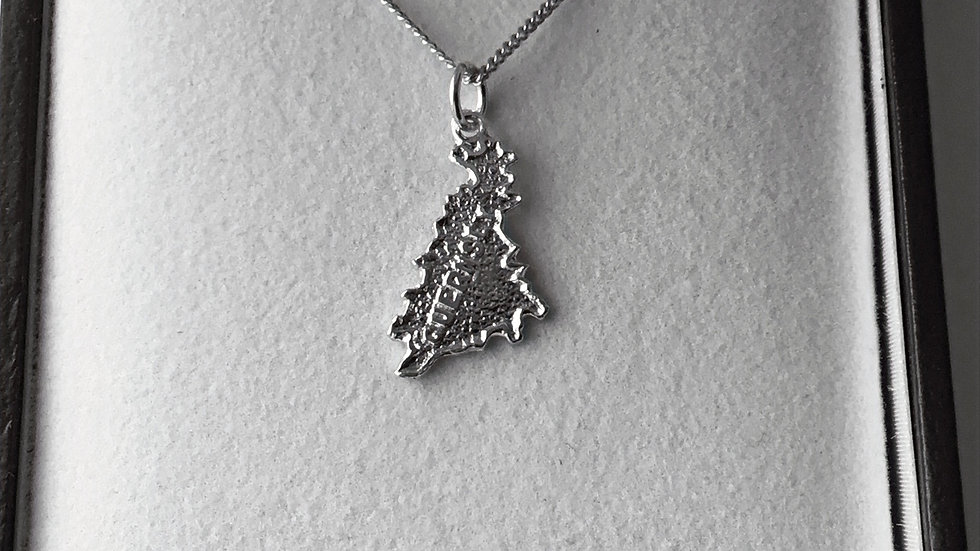Silver Guernsey Map/Chain