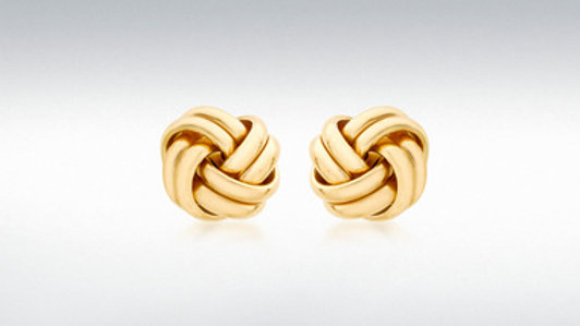 9ct Knot Stud Earring