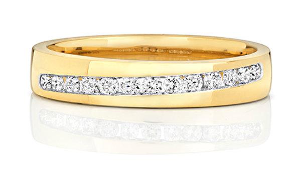 9CT Diamond 26pt Ring