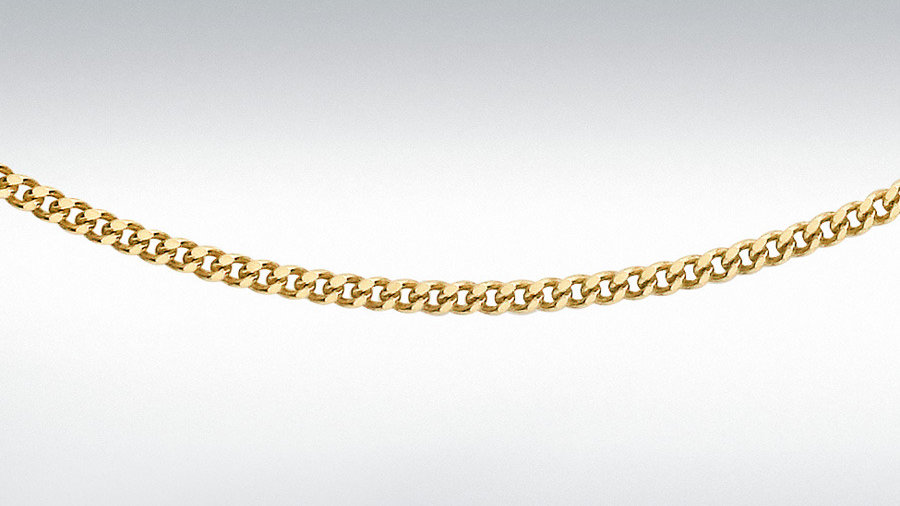 """9ct 18""""/20Adjuster Curb Chain"""