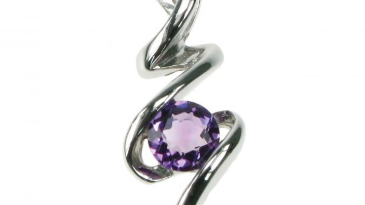 Silver Real Amethyst Pendant