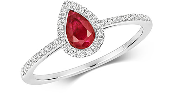 9ct w/g Ruby/Diamond Ring