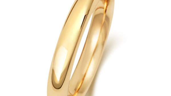 9ct 3mm  Gents Court Wedding Ring