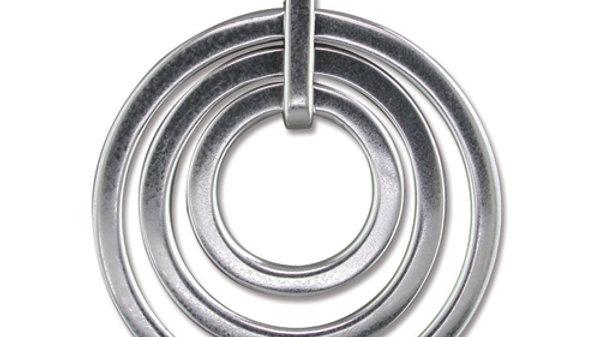 Silver Three ring Pendant