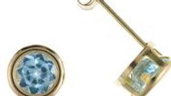 9ct Blue Topaz Earrings