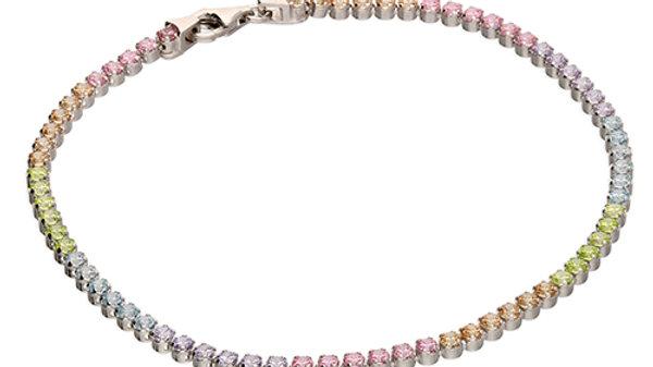 Silver Cz Rainbow Bracelet