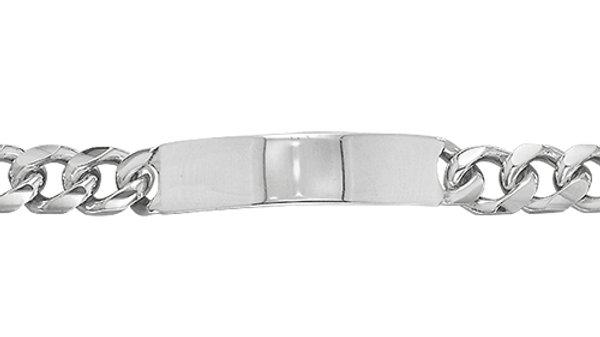 Silver Solid ID Bracelet