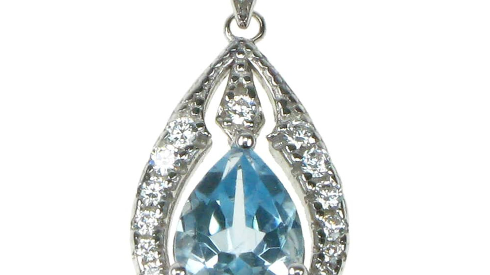 Silver Real Topaz Pendant