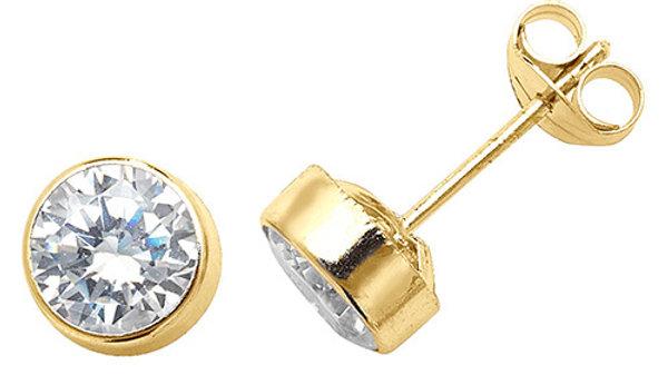 9ct Cz Gold Earrings