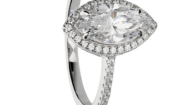 Silver and CZ Marquise Ring