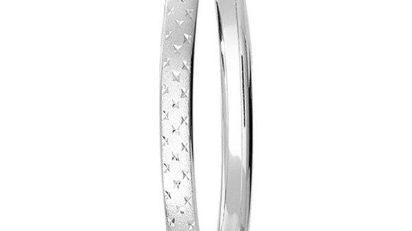 Silver D/C Bangle