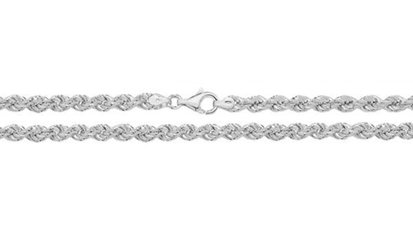 "Silver 18""Rope  Chain"