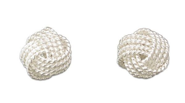 Silver Rope Knot Earring