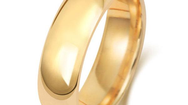 9ct 6mm  Gents Court Wedding Ring