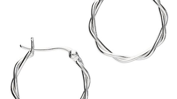 Silver Twisted Hoop