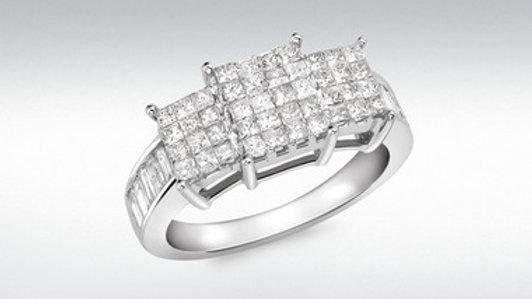 18Ct Diamond W/G 1 Carat Ring