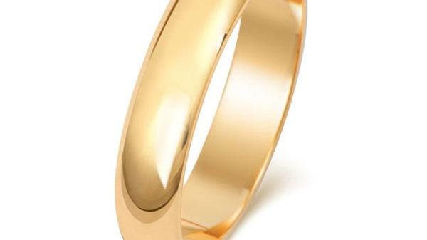 9ct 4mm Gents Wedding Ring