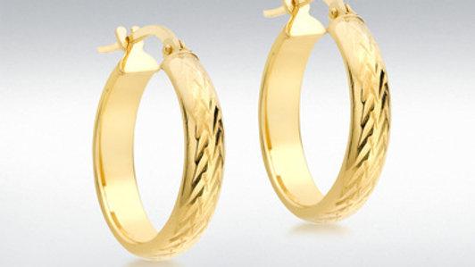 9ct Gold Hoop Earring