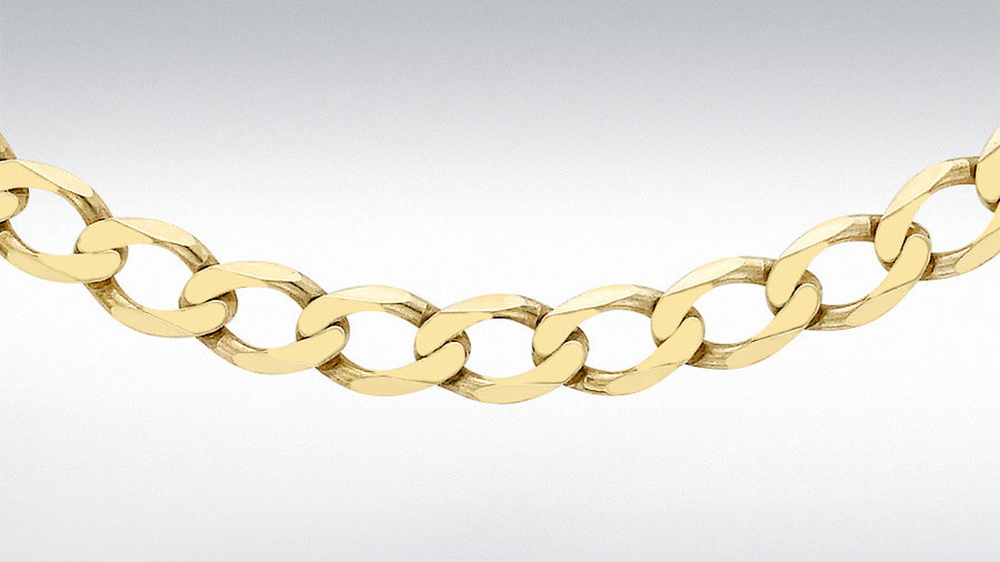 "9ct Gold 24""Curb Chain"