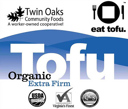 Local Twin Oaks Tofu - 1 lb, Extra Firm