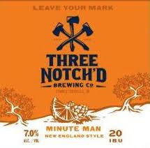 Three Notch'd Minute Man IPA, 6 pack cans