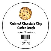 Oatmeal Chocolate Chip Cookie Dough - frozen