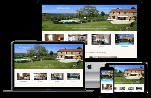 création site web location gîte hébergement marseille