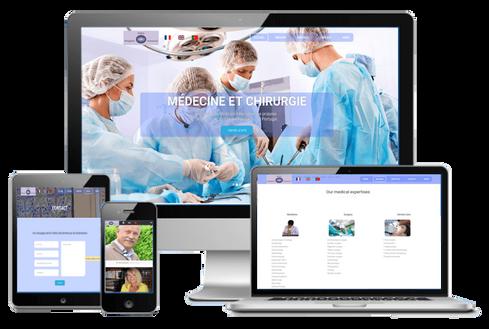 création site médical médecin et chirurgie