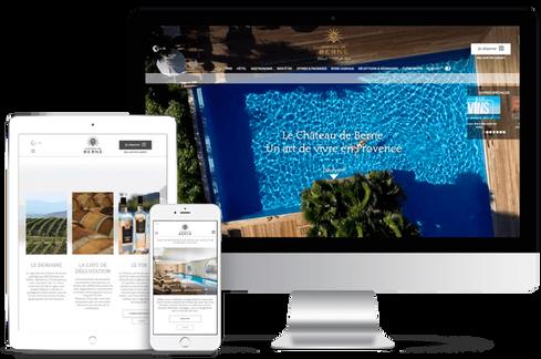 création site web location marseille