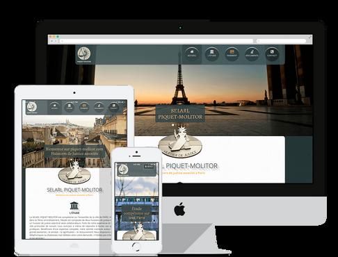 création site web internet pour huissier à Marseille