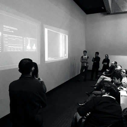 Students presenting their work