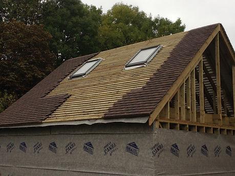 Timber framed garages with Velux windows
