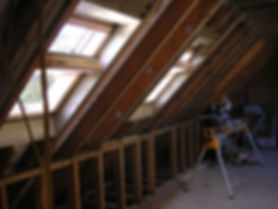 Carpenters in Kent fitting the roof windows on a loft conversion in Harrietsham Kent before our conversion