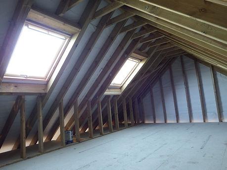 Oak framed garages storage area.  local carpenters in Faversham.
